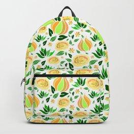 Floral orange Backpack