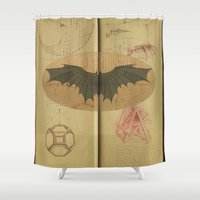 leonardo dicaprio Shower Curtains featuring Leonardo da Vinci by Eva Nev