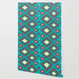 Diamond Pattern Stylish Native Aztec Wallpaper