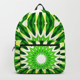 Serene Green Pinwheel Flowers Backpack