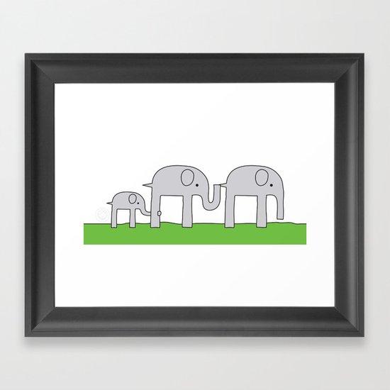 Elephant Family Framed Art Print
