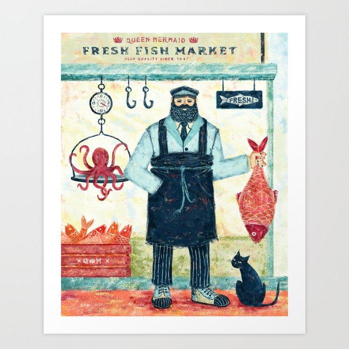 THE FISH MARKET Kunstdrucke