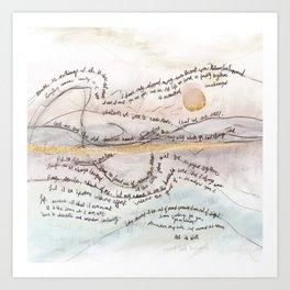 Words To Comfort Art Print