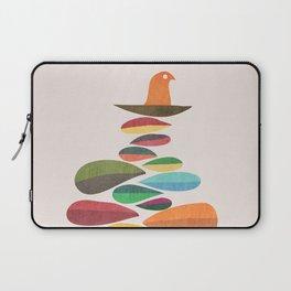 Bird nesting on top of pebbles hill Laptop Sleeve