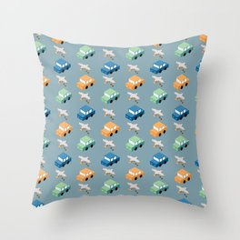 Crappy Commute Throw Pillow