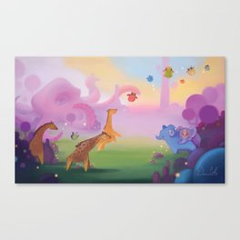 Octo-land Canvas Print