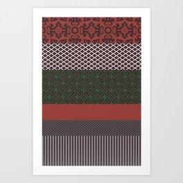 Multipattern 8 Art Print