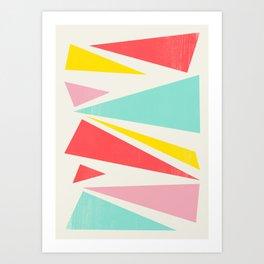 Shattered Waves Art Print