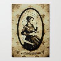 mercedes Canvas Prints featuring Dark Eyes: Mercedes Fabron by Chris Chelser
