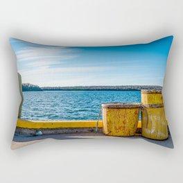Fishermans Cove Harbour View Rectangular Pillow
