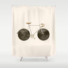 Licorice Bike Shower Curtain