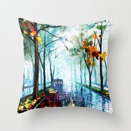 Tardis And The Street Chair Throw Pillow