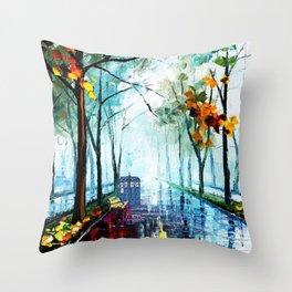 Tardis And The Street Chair Throw Pillow