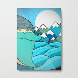 Blue Beard Metal Print