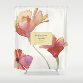 It would be a privelege...Augustus Waters. The Fault in Our Stars. Shower Curtain