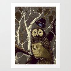 Nite Owls and Bowler Hats Art Print