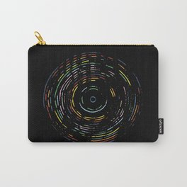 Rainbow Record on Black Carry-All Pouch