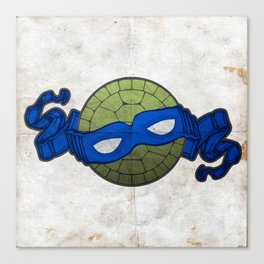 the blue turtle Canvas Print