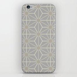 Mindful gray Japanese Asanoha (Hemp) pattern iPhone Skin