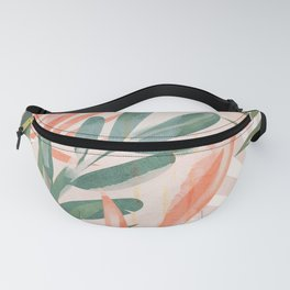Tropical Leaves 4 Fanny Pack