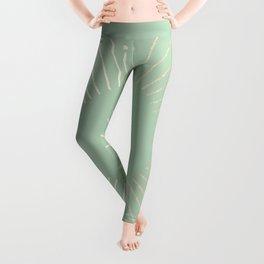 Simply Sunburst in Pastel Cactus Green Leggings