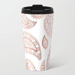 Rose gold paisley Travel Mug