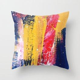 Abstract Brush Strokes Throw Pillow