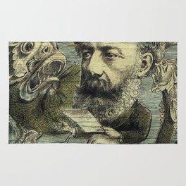Vintage Jules Verne Periodical Cover Rug