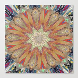 Targeted Passion Mandala Canvas Print