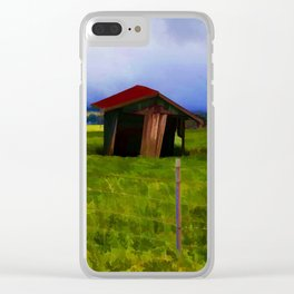 In The Pasture Clear iPhone Case