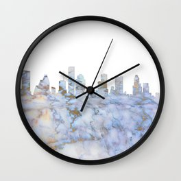 Houston Texas Skyline Wall Clock