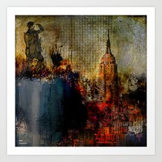 Go up top to look well at the city Art Print