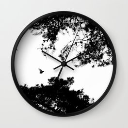 freedom to fly up to sky Wall Clock