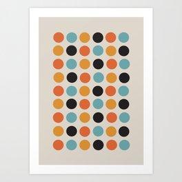 Bauhaus dots Art Print