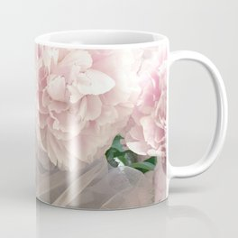 Shabby Chic Pastel Pink Peonies Wall Art - Peonies Home Decor Coffee Mug
