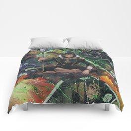 Loki God of Mischief Comic Art Collage Comforters