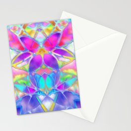 Floral Fractal Art G307 Stationery Cards