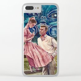 """A spectator"" Clear iPhone Case"