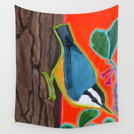 Red Breasted Nuthatch Wall Tapestry