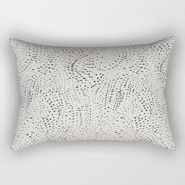 watercolor black dots Rectangular Pillow