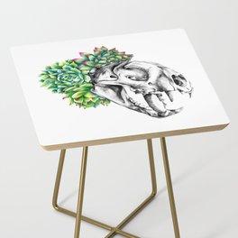 Rock Rose Cat Skull Side Table