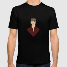 Amelia Black MEDIUM Mens Fitted Tee