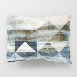 Geo Marble - Natural and Blue #buyart #marble Pillow Sham