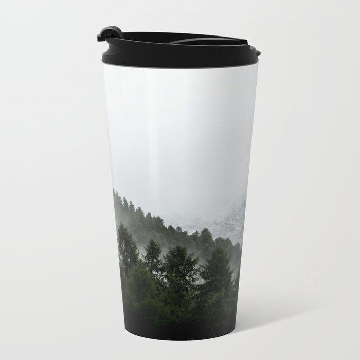 Faded Forest Landscape Metal Travel Mug