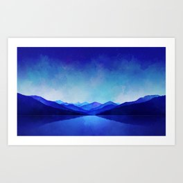Midnight Blue Art Print