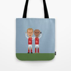Bergkamp and Henry in Arsenal Tote Bag