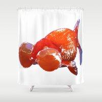 goldfish Shower Curtains featuring Goldfish by Regan's World