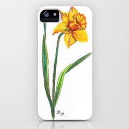 Narcissus flower iPhone Case
