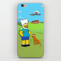 simpsons iPhone & iPod Skins featuring The simpsons Time by Lexatchison