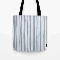 Into the Woods grey Stripes Tote Bag
